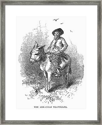 Arkansas Traveler, 1878 Framed Print by Granger