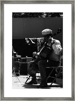 Arkestra Cellist Uc Davis Quad Framed Print by Lee  Santa