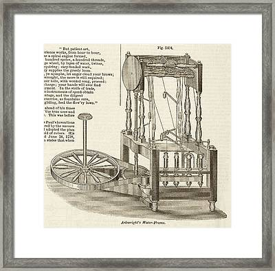 Arkwright's Water Frame Framed Print by Art And Picture Collection/new York Public Library