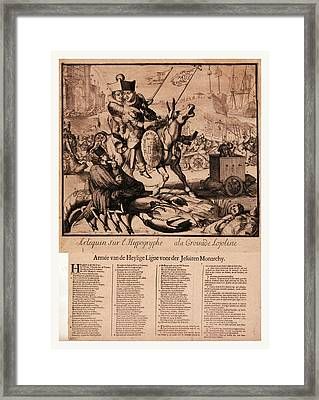 Arlequin Sur Lhippogryphe A La Croisade Lojoliste Armee Van Framed Print