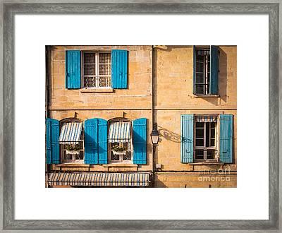 Arles Windows Framed Print by Inge Johnsson