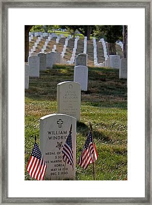 Arlington Cemetary Framed Print by DustyFootPhotography