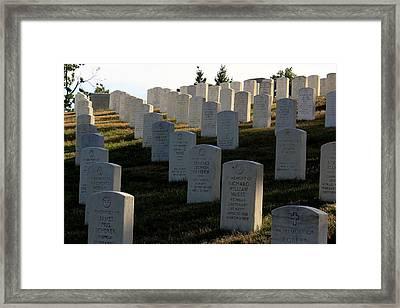 Arlington Cemetery Framed Print by DustyFootPhotography
