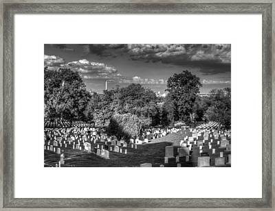 Framed Print featuring the photograph Arlington Cemetery by Ross Henton