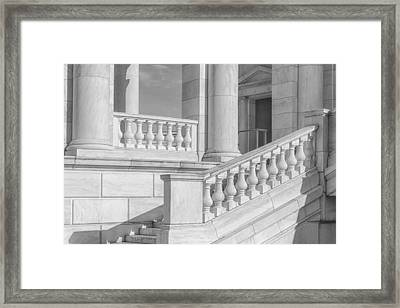 Arlington Memorial Amphitheater  Bw Framed Print by Susan Candelario
