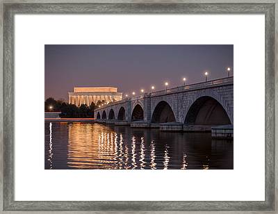 Arlington Memorial Bridge Framed Print