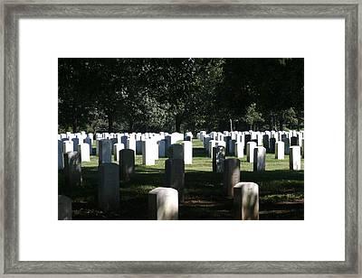 Arlington National Cemetery - 12121 Framed Print