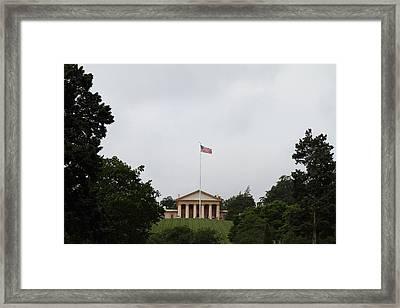 Arlington National Cemetery - Arlington House - 01131 Framed Print