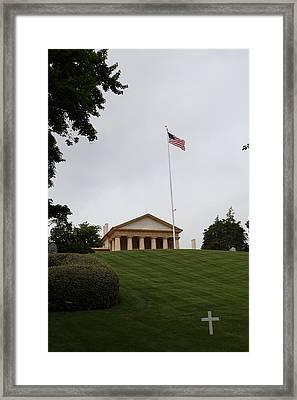 Arlington National Cemetery - Arlington House - 01132 Framed Print by DC Photographer