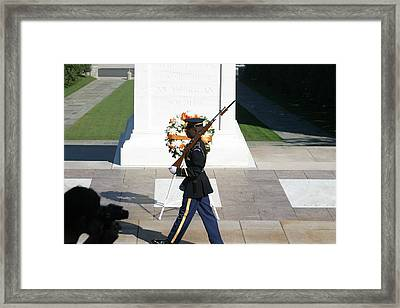 Arlington National Cemetery - Tomb Of The Unknown Soldier - 121210 Framed Print by DC Photographer