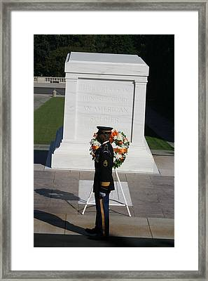 Arlington National Cemetery - Tomb Of The Unknown Soldier - 121212 Framed Print