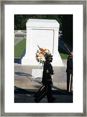 Arlington National Cemetery - Tomb Of The Unknown Soldier - 121213 Framed Print by DC Photographer