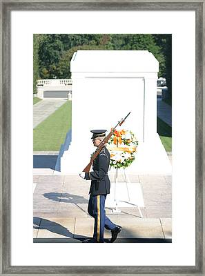 Arlington National Cemetery - Tomb Of The Unknown Soldier - 121214 Framed Print by DC Photographer