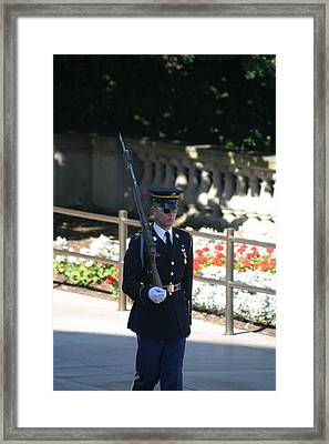 Arlington National Cemetery - Tomb Of The Unknown Soldier - 121215 Framed Print by DC Photographer