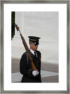 Arlington National Cemetery - Tomb Of The Unknown Soldier - 121216 Framed Print by DC Photographer