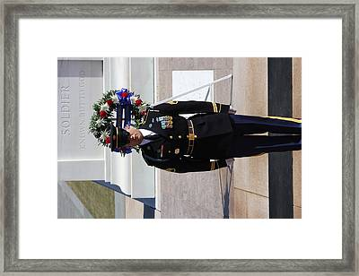 Arlington National Cemetery - Tomb Of The Unknown Soldier - 121217 Framed Print by DC Photographer