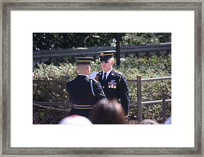 Arlington National Cemetery - Tomb Of The Unknown Soldier - 121221 Framed Print by DC Photographer