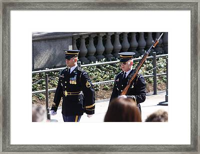 Arlington National Cemetery - Tomb Of The Unknown Soldier - 121223 Framed Print by DC Photographer