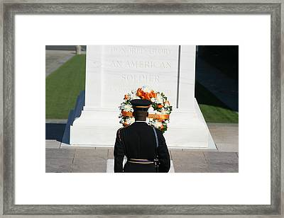Arlington National Cemetery - Tomb Of The Unknown Soldier - 12128 Framed Print by DC Photographer