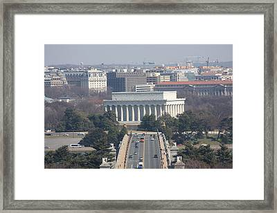 Arlington National Cemetery - View From Arlington House - 12123 Framed Print