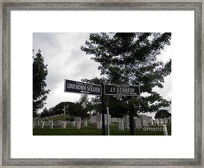 Framed Print featuring the digital art Arlington's Unknown Soldier Guide by Angelia Hodges Clay