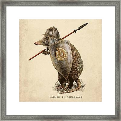 Armadillo Framed Print by Eric Fan