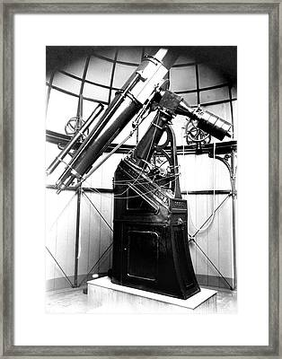 Armagh 10-inch Refractor Telescope Framed Print by Royal Astronomical Society