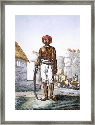 Armed Guard Of The Brijbasis Tribe Framed Print