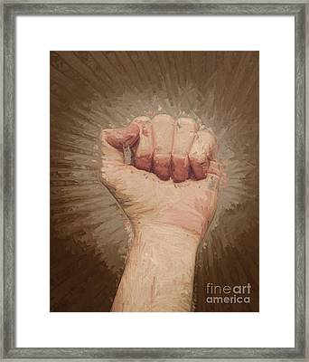 Armed Rise Up Framed Print by Jorgo Photography - Wall Art Gallery