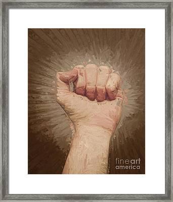 Armed Rise Up Framed Print