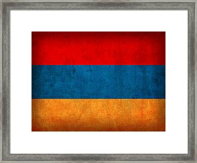 Armenia Flag Vintage Distressed Finish Framed Print by Design Turnpike