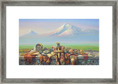 Armenia My Love Framed Print by Meruzhan Khachatryan