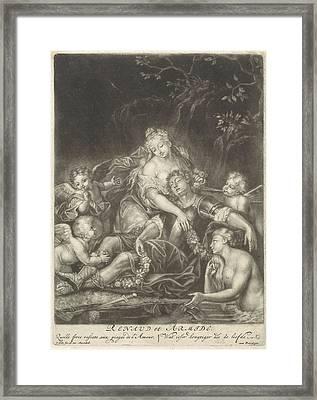 Armida And Rinaldo Sleeping, Jacob Gole Framed Print by Jacob Gole