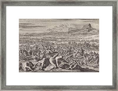 Armies Of Sodom And Gomorrah Defeated, Jan Luyken Framed Print