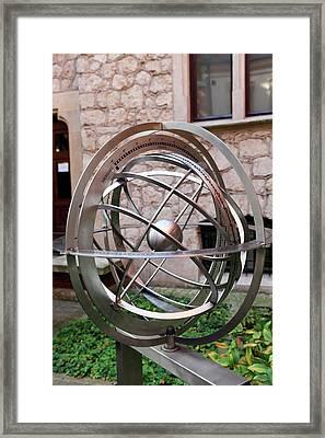 Armillary Sphere Framed Print