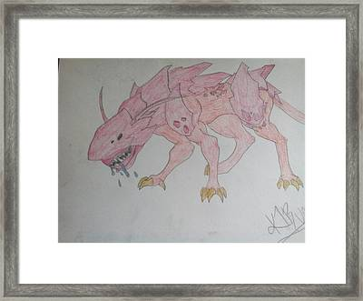 Armored Creature  Framed Print by Katelyn Biles