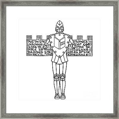 Armour Cross Framed Print by Leigh Eldred