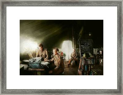 Army - Administration Framed Print by Mike Savad