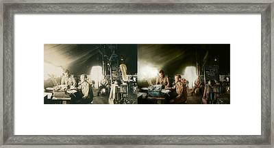 Army - Administration - Side By Side Framed Print by Mike Savad