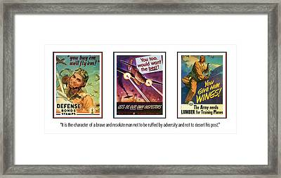 Army - Air Force Persistence  Framed Print