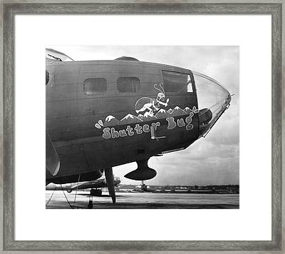 Army Air Force Photo Plane Framed Print