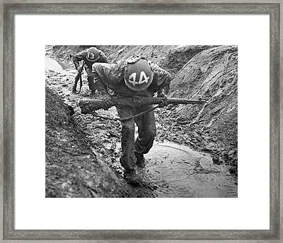 Army Basic Training Framed Print by Underwood Archives