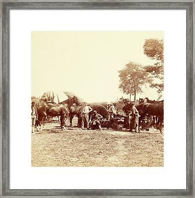 Army Blacksmith And Forge, Antietam Framed Print