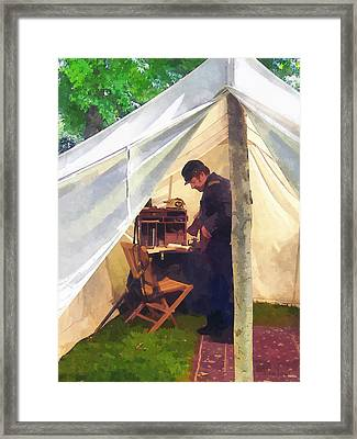 Army - Civil War Officer's Tent Framed Print by Susan Savad