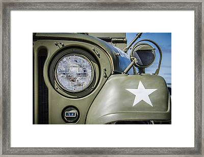 Army Jeep Framed Print by Bradley Clay