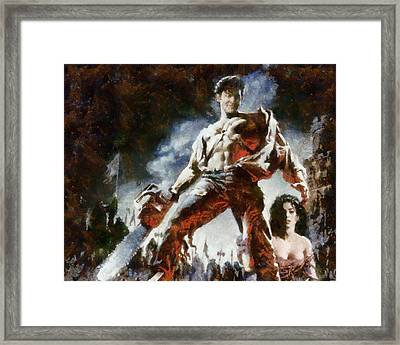 Framed Print featuring the painting Army Of Darkness by Joe Misrasi
