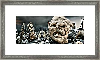 Army Of Orcs Framed Print by Florian Rodarte