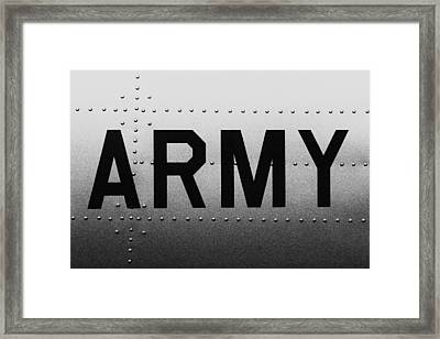 Army Strong Framed Print by Benjamin Yeager