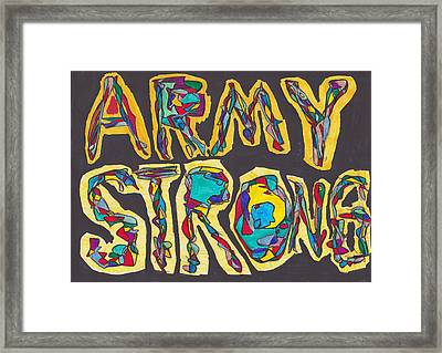 Army Strong Framed Print