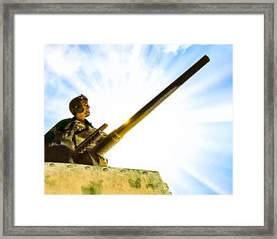 Army Tank Commander - World War II Framed Print